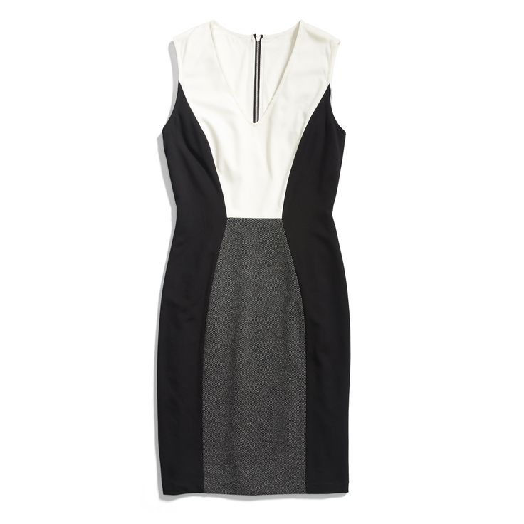 Stitch Fix Winter Essentials: An update to the LBD, a colorblocked dress is modern and chic. Try it with a blazer to work or moto jacket for girls' night out.