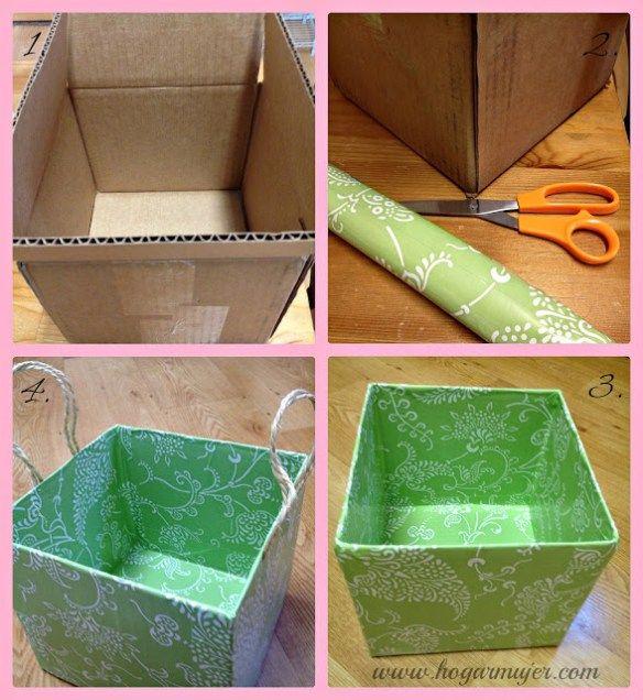 Hoy les traigo esta idea para reusar cajas de cartón con la finalidad de organizar objetos y espacios en la casa. Es que con esto de la limpieza y el cambi