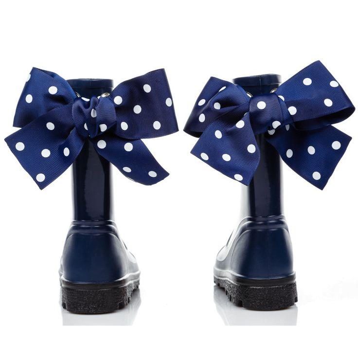 Eleganckie kokardy to #stylowy dodatek w gumiaczkach dla dziewczynki Navy, Gummie