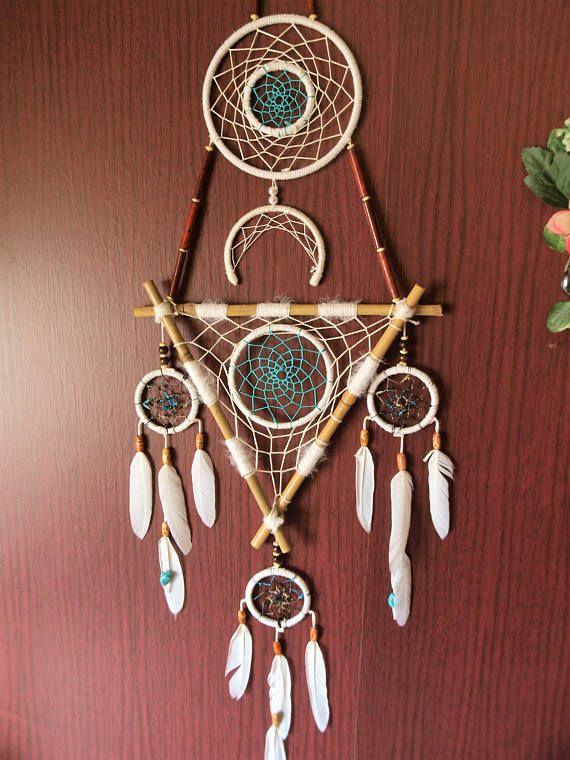 Handmade Dream Catcher Natural Gem Necklace