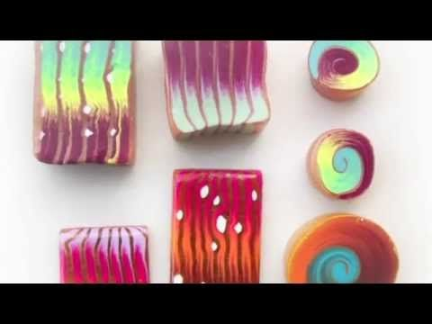 Organic Ikat Canes & Stacks Video ~ Polymer Clay Canes
