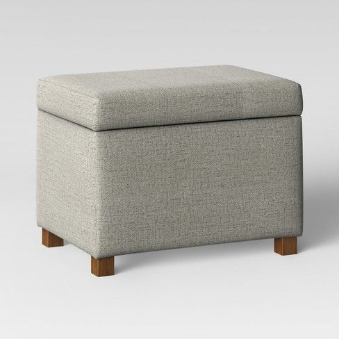 Essex Storage Ottoman Gray Threshold Storage Ottoman Ottoman Storage Bench