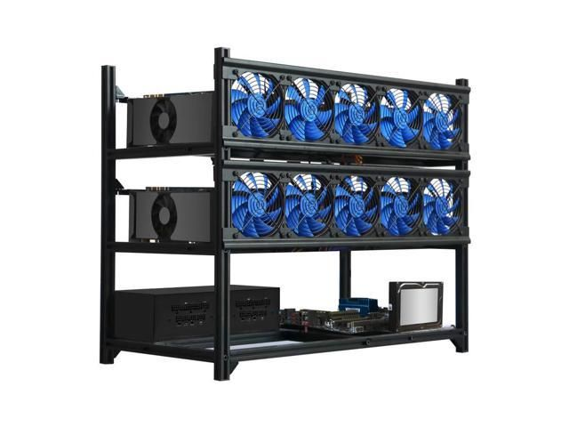 Bitcoin Miner Rig Case W 6 8 Or 12 Gpu Mining Stackable Frame In 2020 Crypto Mining Bitcoin Miner Bitcoin