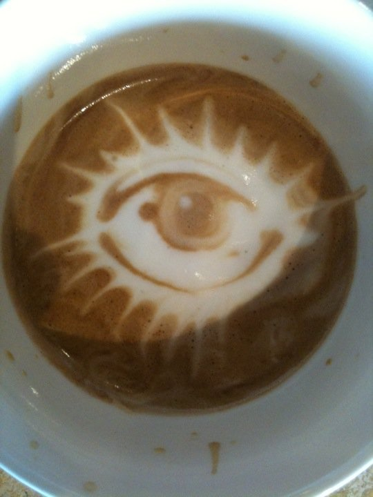 Coffee art by Johnny Blanco.