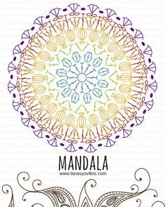 mandala free crochet pattern with video tutorial, español e inglés.                                                                                                                                                     Más