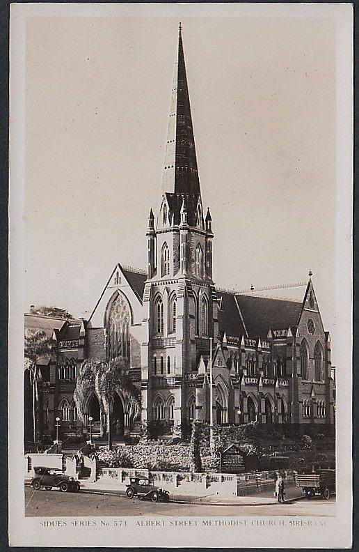 Albert Street Methodist Church, Brisbane ~ the glorious church my parents were married in!
