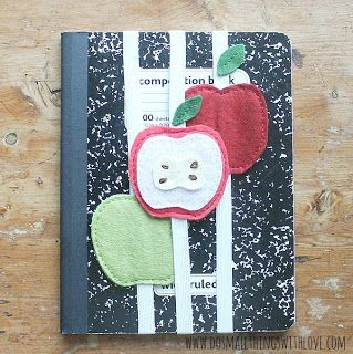 Small Things: Felt Apple Notebook Hugger and August Apple Projects from #MyFavoriteBloggers