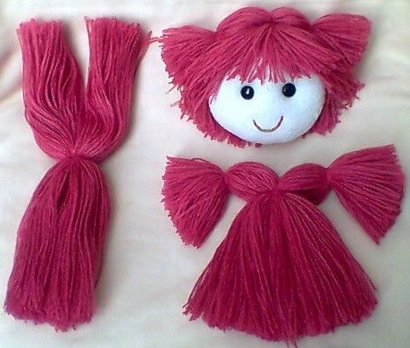 how to make dolls hair out of wool
