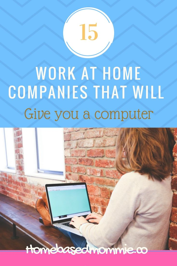 Want to work from home but need a computer?  No worries, check out this list of work at home companies that will give you a computer.