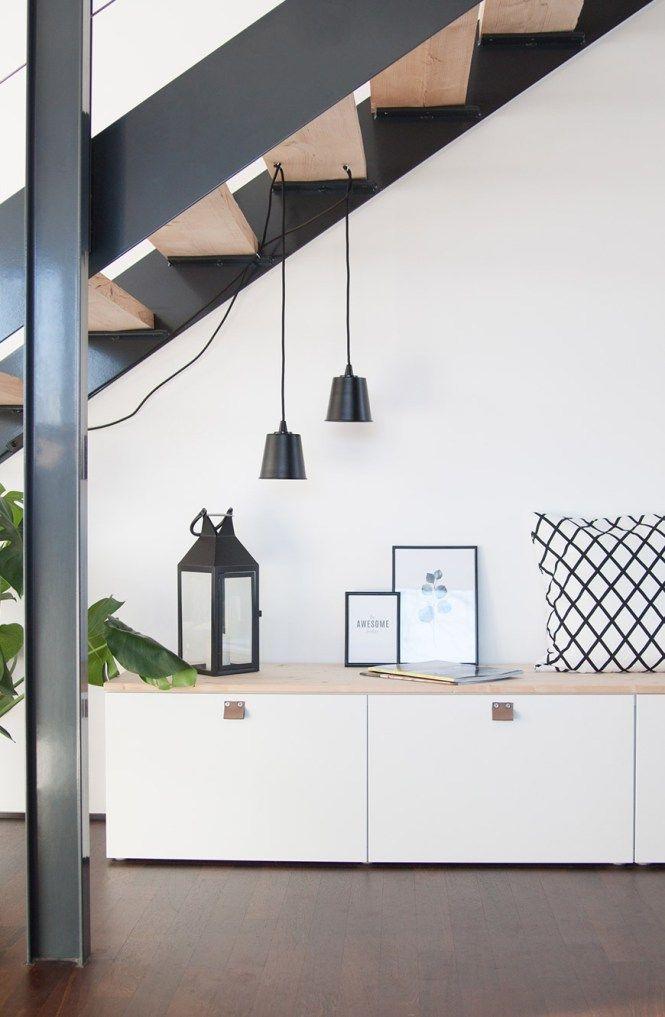 Ikea Besta Im Flur #treppe #stahltreppe #flur#sitzbank #besta