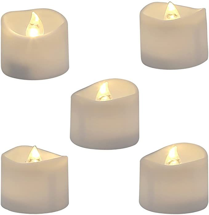 Amazon Com Homemory Realistic And Bright Flickering Bulb Battery Operated Flameless Led Tea Light For Seasonal Fake Candles Led Tea Light Candles Tea Lights Fake candles that look real