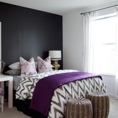 Bedroom Purple Pink Grey Room Design, Pictures, Remodel, Decor and Ideas - page 2