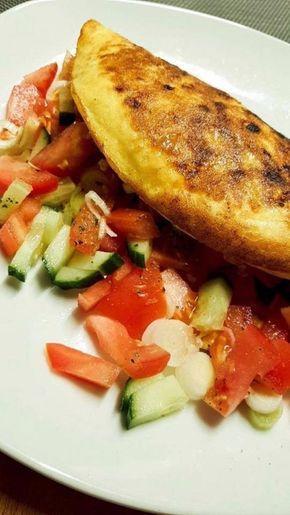Frischkäse Omlett – Lowcarb für Anfänger und Fortgeschrittene