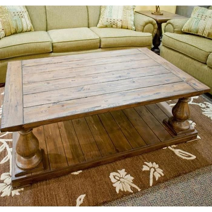 Coffee Table with Natural Finish | Nebraska Furniture Mart