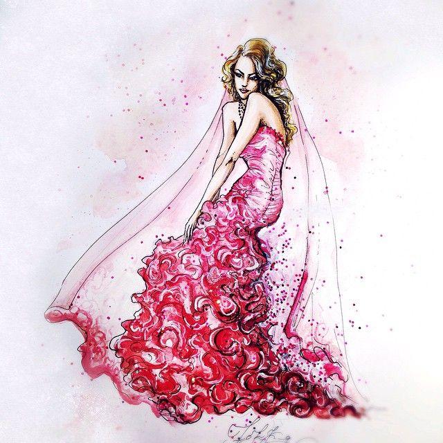Цвета любви color of love #art #artist #girl #bride #fashionsketch #fashionillustration #red #illustration #draw #idraw #paint #арт #акварель #девушка #свадебноеплатье #эскиз #графика #набросок #рисунок #ярисую #невеста #розовое #красный