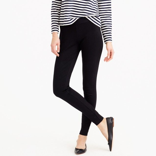J. Crew Pixie Pant  Have these in Black, Navy, and Hthr Charcoal   When we're stumped on what to wear, we start with these pants. Like a legging but more structured, they're made from a stretchy fabric and look good on everyone.