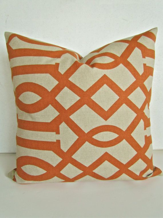 DECORATIVE Throw Pillows 20x20 ORANGE Copper by SayItWithPillows, $20.95