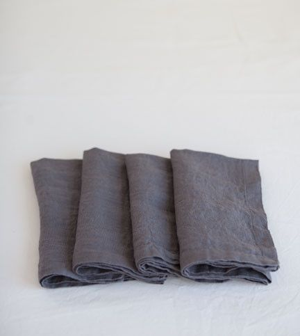 Charcoal Linen NapkinsCharcoal Linens, Favorite Things, Textiles Fabrics Linens, Things I D, Linens Napkins, Products