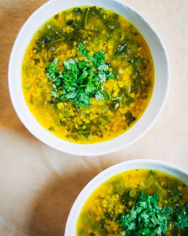 Healing Lentil Soup w/ Turmeric + Summer Vegetables | Well and Full | #vegan…