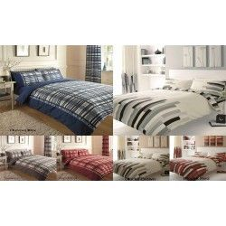 Quilt/DuvetCover Bedding Set+P/cases Blocks or Chevron Single Double King S/King