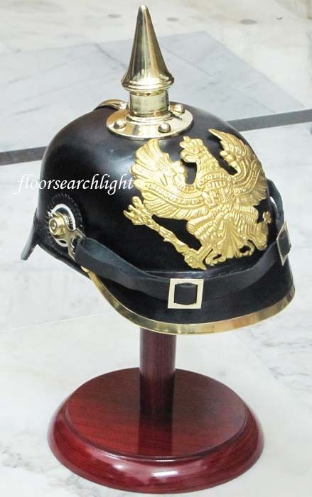 Leather Helmet Imperial Officer Fr Helmet German Prussian Leather Pickelhaube