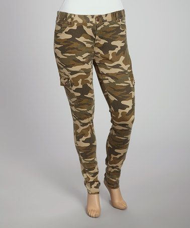 Take a look at this Olive Camo Skinny Pants - Women & Plus by Red Fox on #zulily today! 2 x