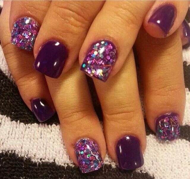 1000+ Ideas About Purple Nail Designs On Pinterest