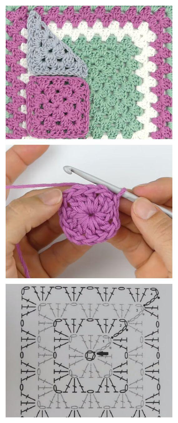Classic Granny Square Tutorial Learn To Crochet Crochet Kingdom Granny Square Crochet Patterns Free Granny Square Crochet Pattern Granny Square Crochet