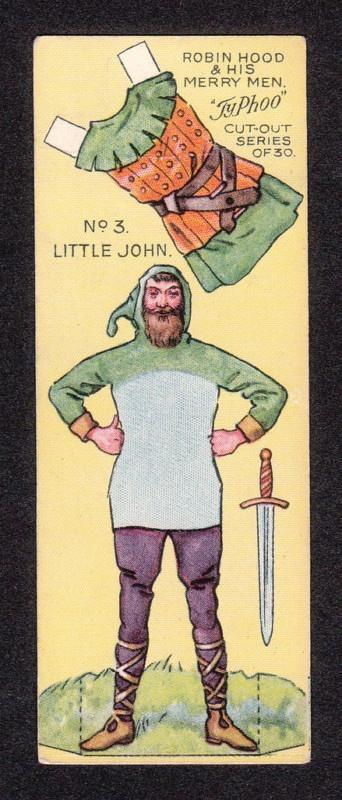 Robin Hood Scarce 1928 Typhoo Tea Paper Doll Card #3 Little John | eBay