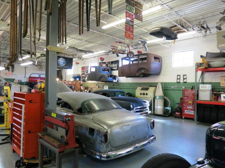 Man Cave Garage Art : Best hot rod garage images on pinterest shop