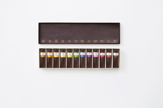 flavor-filled chocolate paint tubes by nendo