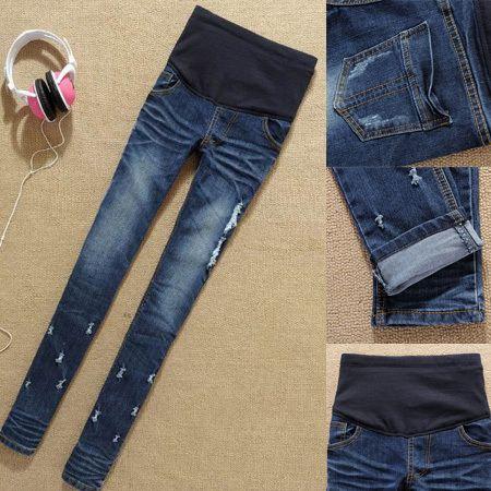 Fashion Maternity jeans,Slim pencil pants for Pregnant women,big/plus size…