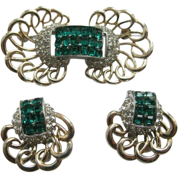 430a Marcel Boucher Phrygian Cap Invisibly Set Pin Earrings