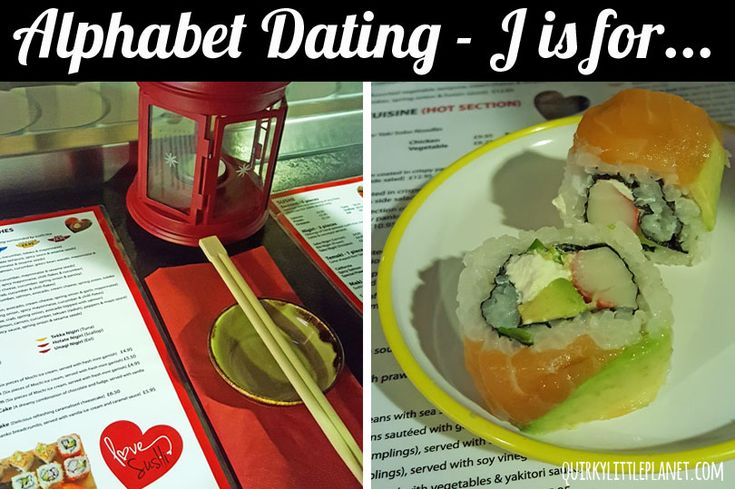 Alphabet Dating - J is for Japanese Food