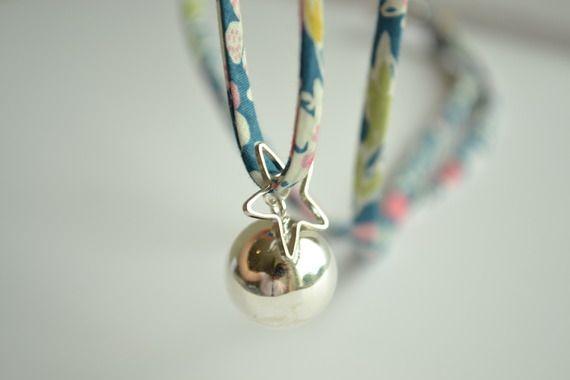 Bola de Grossesse Argent Liberty | The Good Karma Shop |#grossesse #accessoire #bijou #fashionmamas #cadeau #boladegrossesse
