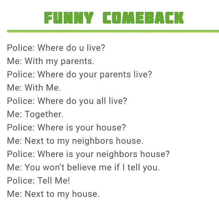 Police Joke / Where do you live?