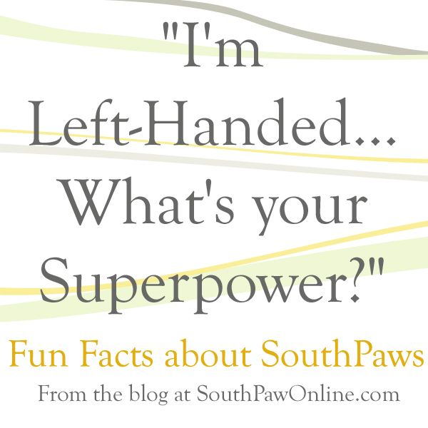 "Ever wondered where my business name ""South Paw Studios"" comes from?  Just like my business tagline ""Left-handmade. Right-mind Designed,"" ""South Paw"" refers to my left-handedness. It's a baseball term that describes players that pitch with their left hand. I like to think that my left-handed craftsmanship + my right-brained creativity make a great combination."