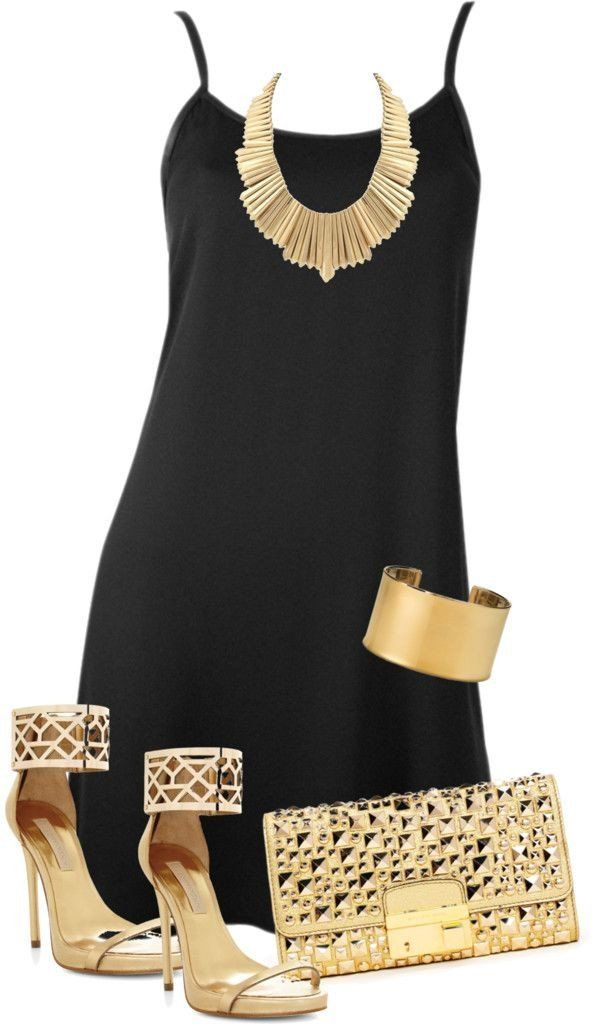 Black Gold Fashion Clothes Summer Fashion