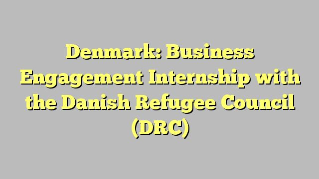 Denmark: Business Engagement Internship with the Danish Refugee Council (DRC)