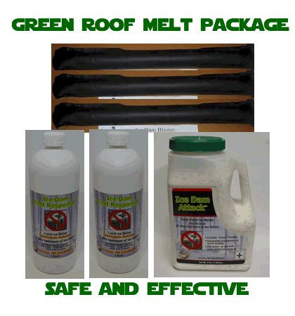 Roof Melt,ice Melt Sock, Ice Dam Remover, Green Environmentally Safe Ice  And Snow Melter, Deicer Safe For Pets And Plants