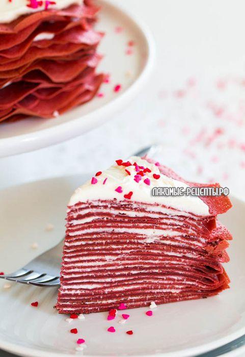 """Блинный торт """"Красный бархат"""" на 8 марта и Масленицу"""