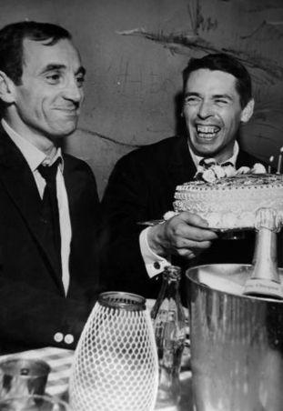 Jacques Brel  et Charles Aznavour