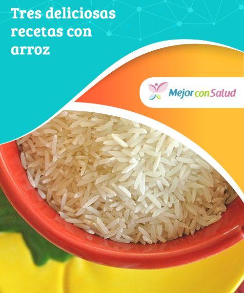 Tres deliciosas recetas con arroz  El #arroz es un alimento muy beneficioso para el aparato digestivo, y gracias a sus propiedades nos puede ayudar tanto a tratar la #gastroenteritis como el #estreñimiento #Recetas
