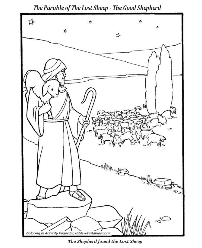 Jesus With Sheep Coloring Pages Unique The Parable Of The Lost