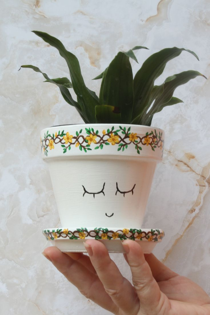 The Fauna Flower Pot Mother Nature Collection Etsy In 2020 Painted Flower Pots Small Flower Pots Flower Pots