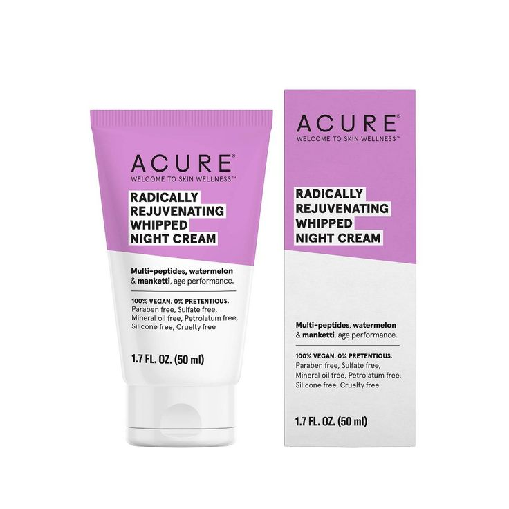 Acure Radically Rejuvenating Whipped Night Cream Facial