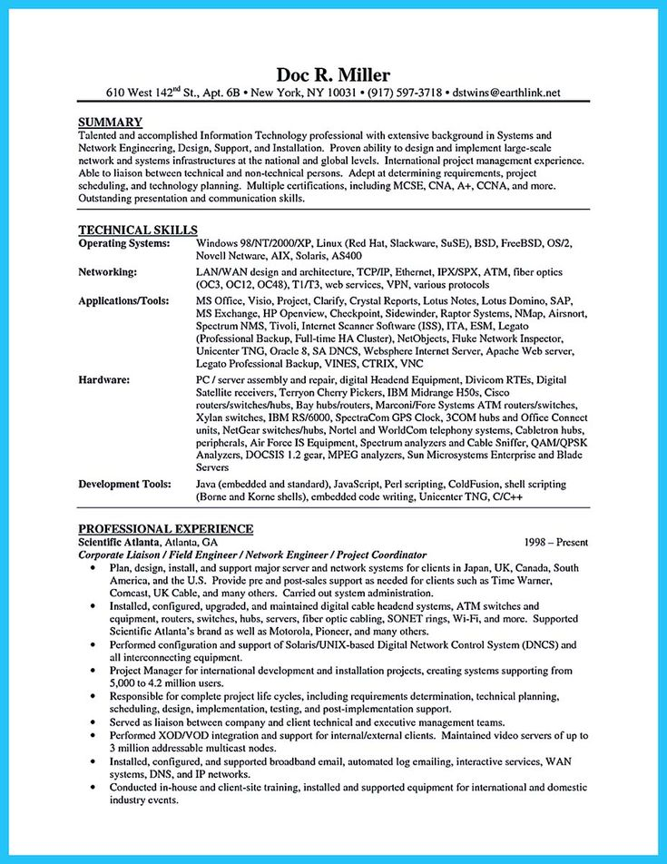 Entry Level Network Engineer Resume 60 Best Resume Examples Images On Pinterest  Accountant Resume .