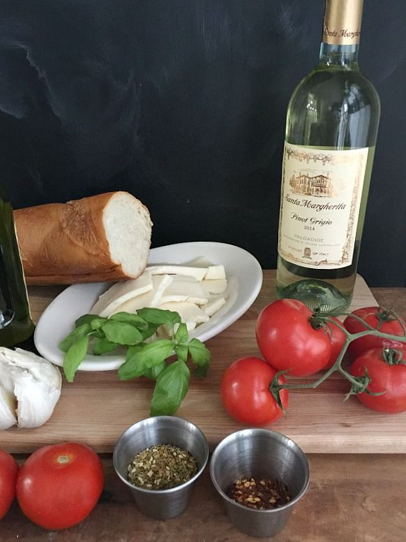 Tomato Mozzarella Appetizer & Santa Margherita Pinot Grigio when you need a wine and an appetizer perfect for staying in or as a gift. You will love them