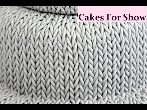 """Creating a knitted effect on cake using sugarpaste/fondant. I began with 1kg sugarpaste, 7"""" & 5"""" round cakes. Music - Pale Rider - Kevin MacLeod (incompetech..."""