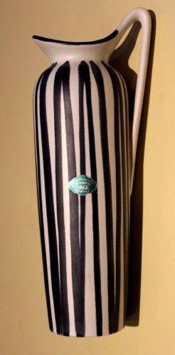 Schoene-Keramik-Vase-50er-60er-Jahre-Gerstacker-Nuernberg